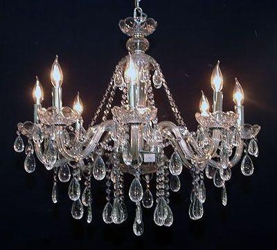 lustre 8l cristal habitat home. Black Bedroom Furniture Sets. Home Design Ideas